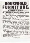 Auction Notice for George Taylor's Furniture